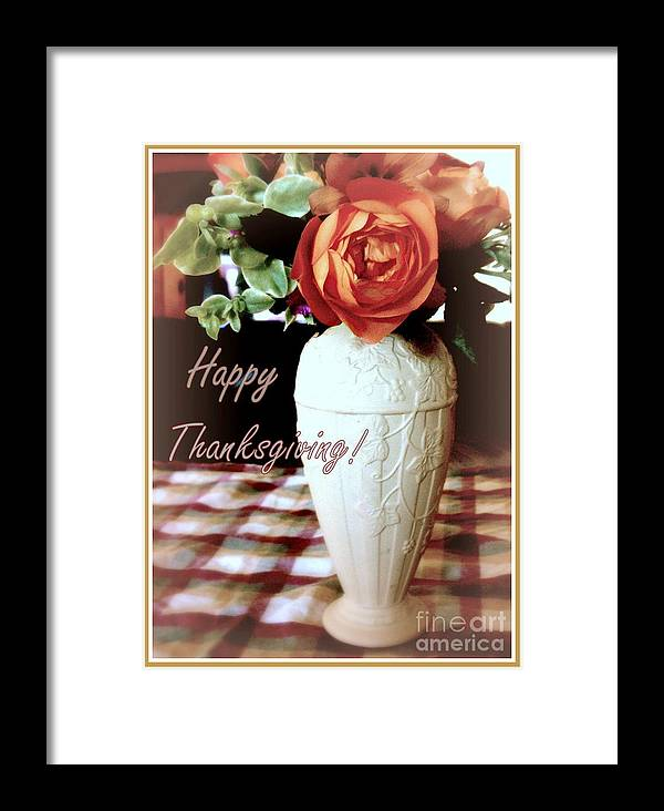 Thanksgiving Framed Print featuring the photograph Thanksgiving by Diana Besser