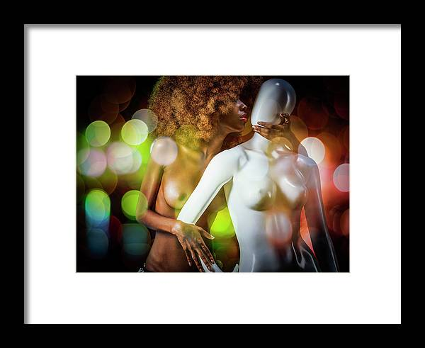 Model Framed Print featuring the photograph The Age Of Aquarius by Jackson Carvalho
