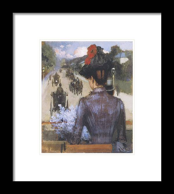 Sidne Starr Framed Print featuring the painting The City Atlas by Sidney Starr