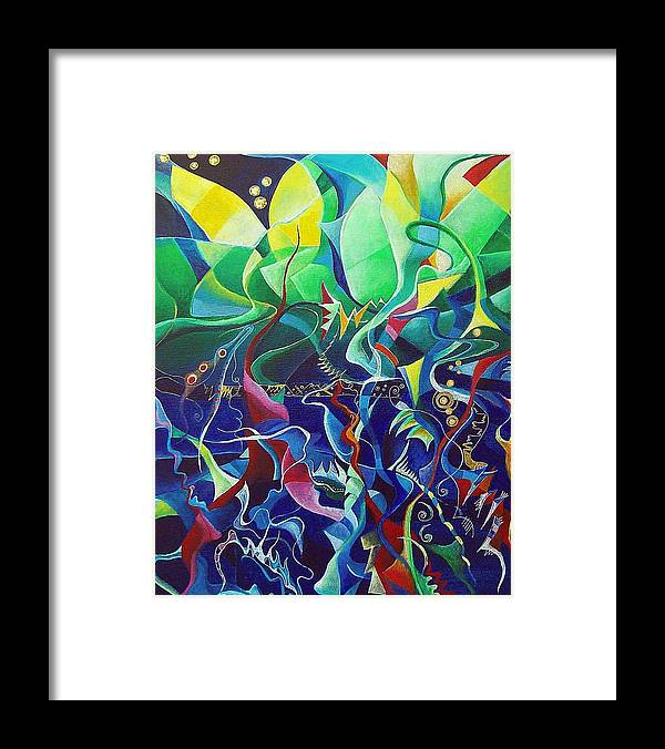 Darius Milhaud Framed Print featuring the painting the dreams of Jacob by Wolfgang Schweizer