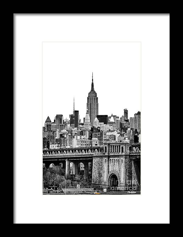 New York Canvas Framed Print featuring the photograph The Empire State Building by John Farnan