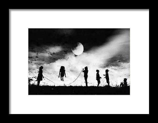 Children Framed Print featuring the photograph The Game High Jump by Jay Satriani