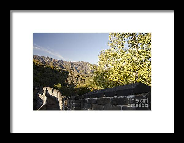 China Landscape Framed Print featuring the photograph The Great Wall 1064 by Terri Winkler
