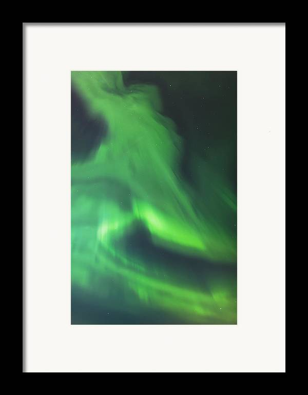 Anchorage Framed Print featuring the photograph The Green Northern Lights Corona by Kevin Smith