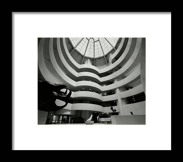 Frank Lloyd Wright Framed Print featuring the photograph The Guggenheim Museum In New York City by Eveyln Hofer