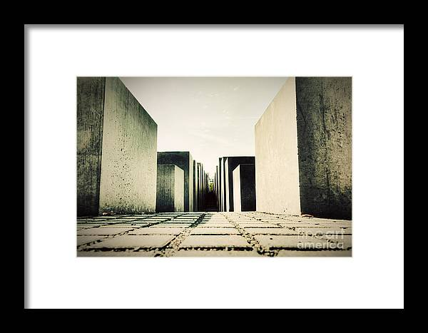 Berlin Framed Print featuring the photograph The Holocaust Memorial Berlin Germany by Michal Bednarek