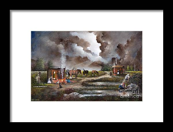 Countryside Framed Print featuring the painting The Horse Traders by Ken Wood