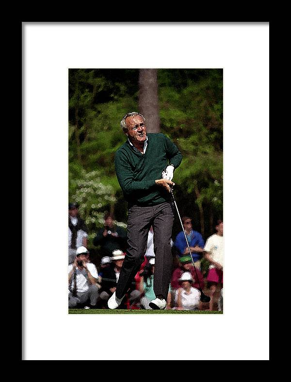 Arnold Palmer Framed Print featuring the photograph The King by Jamie Pattison