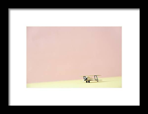 Shadow Framed Print featuring the photograph The Model Of The Airplane Made Of The by Yagi Studio