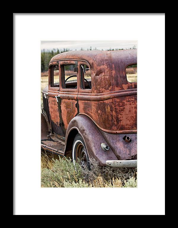 1933 Dodge Framed Print featuring the photograph The Old Dodge by Carolyn Fox