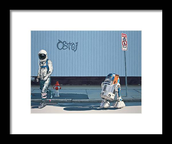 Astronaut Framed Print featuring the painting The Parking Ticket by Scott Listfield