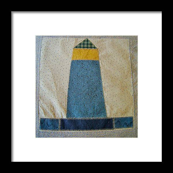 Quilt Framed Print featuring the photograph The Quilt Work Of Chambers Island Lighthouse by Carol Toepke