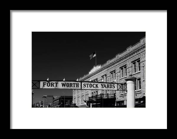 Fort Worth Framed Print featuring the photograph The Stock Yards Of Fort Worth by Mountain Dreams