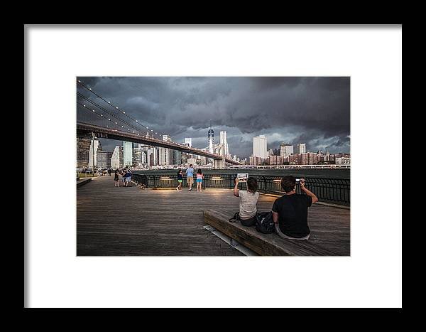 Manhattan Framed Print featuring the photograph The Storm Over Manhattan by Alex Potemkin