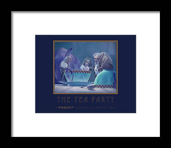 Filgate Framed Print featuring the painting The Tea Party by Leonard Filgate