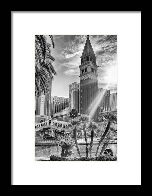 Nature Framed Print featuring the photograph The Venetian Resort Hotel Casino by Howard Salmon
