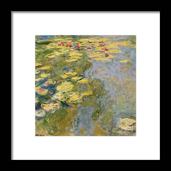 Impressionist Framed Print featuring the painting The Waterlily Pond by Claude Monet