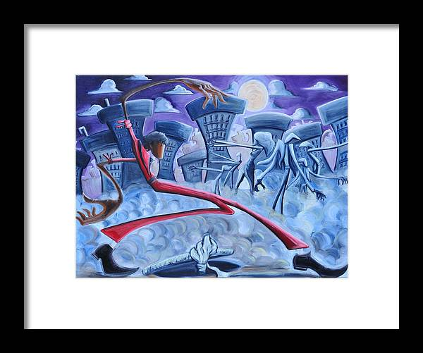 Thriller Framed Print featuring the painting The Thriller by Tu-Kwon Thomas