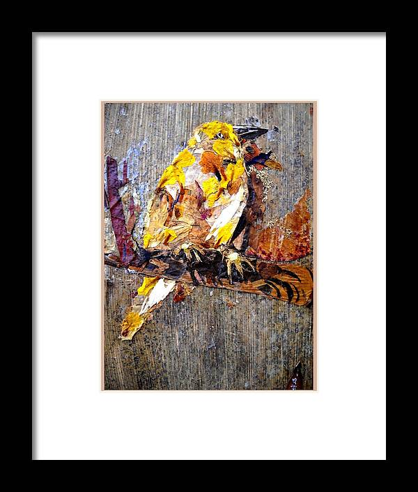 Bird Framed Print featuring the mixed media Tired Bird by Basant Soni