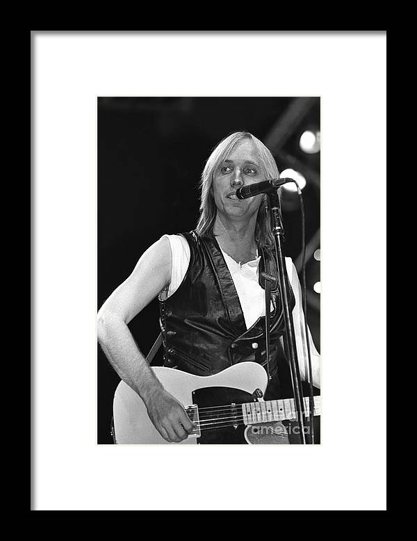 Singer Framed Print featuring the photograph Tom Petty And The Heartbreakers by Concert Photos