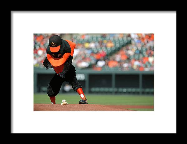 American League Baseball Framed Print featuring the photograph Toronto Blue Jays V Baltimore Orioles by Jonathan Ernst