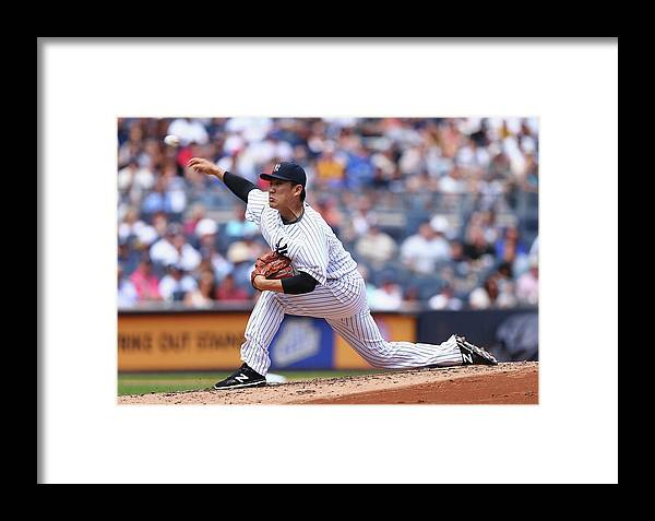 People Framed Print featuring the photograph Toronto Blue Jays V New York Yankees 1 by Elsa