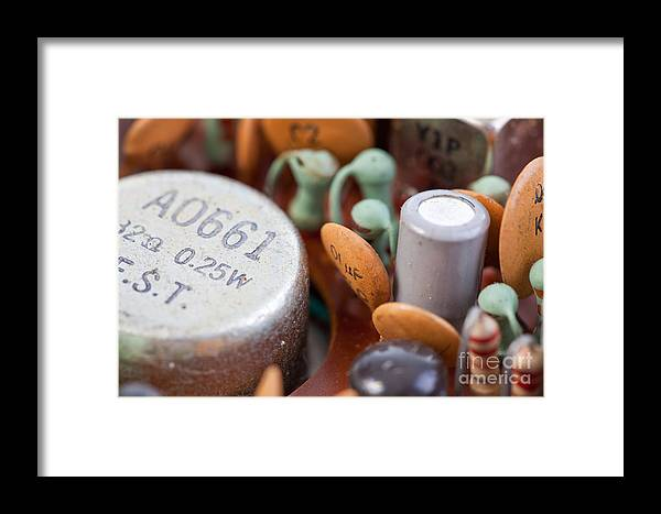Audio Framed Print featuring the photograph Transistors by Jim Pruitt