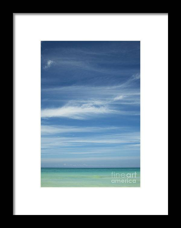 Hawaii Framed Print featuring the photograph Tropical Ocean And Sky by Charmian Vistaunet