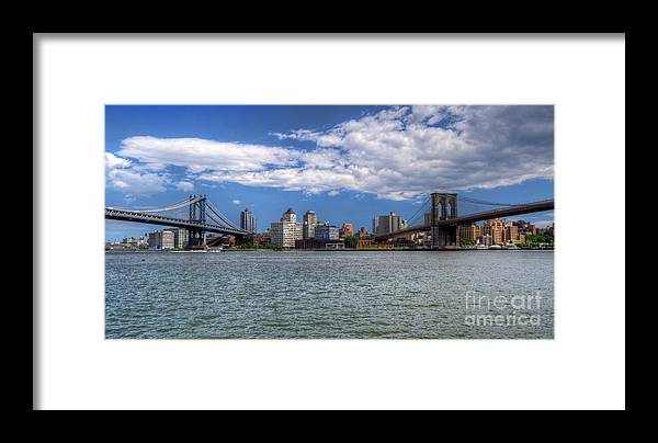 Two Bridges Framed Print featuring the photograph Two Bridges by Dima James