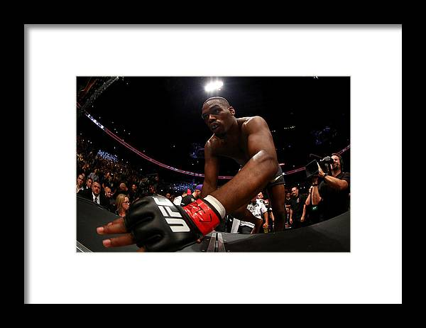 Heavyweight Framed Print featuring the photograph Ufc 165 Jones V Gustafsson by Al Bello/zuffa Llc