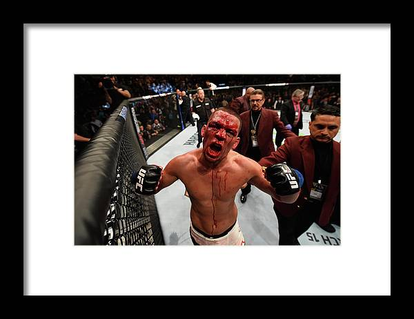 Event Framed Print featuring the photograph Ufc 196 Mcgregor V Diaz by Josh Hedges/zuffa Llc