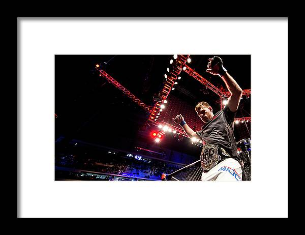 Heavyweight Framed Print featuring the photograph Ufc 198 Werdum V Miocic by Buda Mendes/zuffa Llc