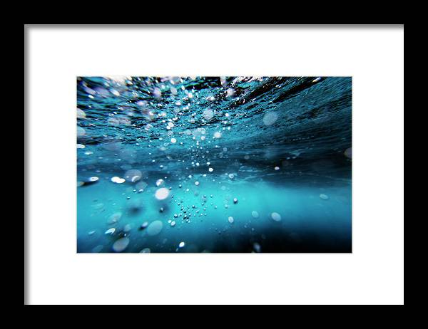 Underwater Framed Print featuring the photograph Underwater Bubbles by Subman