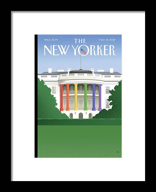 President Framed Print featuring the painting Spectrum Of Light by Bob Staake