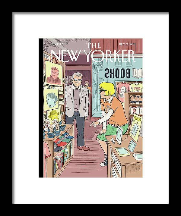 Black Friday Framed Print featuring the painting Black Friday by Daniel Clowes