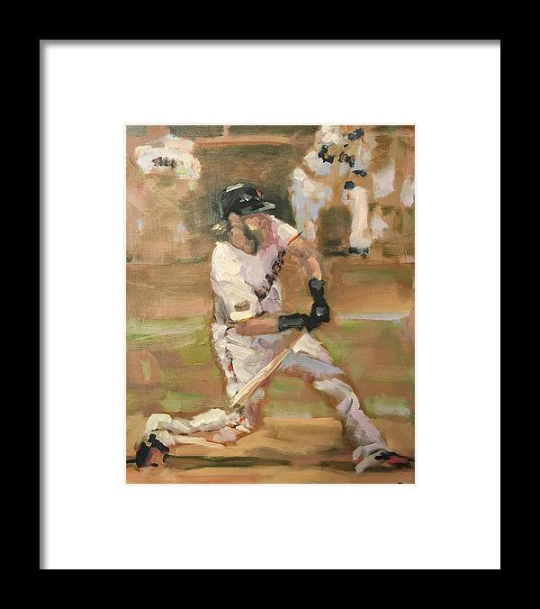 Sf Giants Framed Print featuring the painting Untitled 1 by Darren Kerr