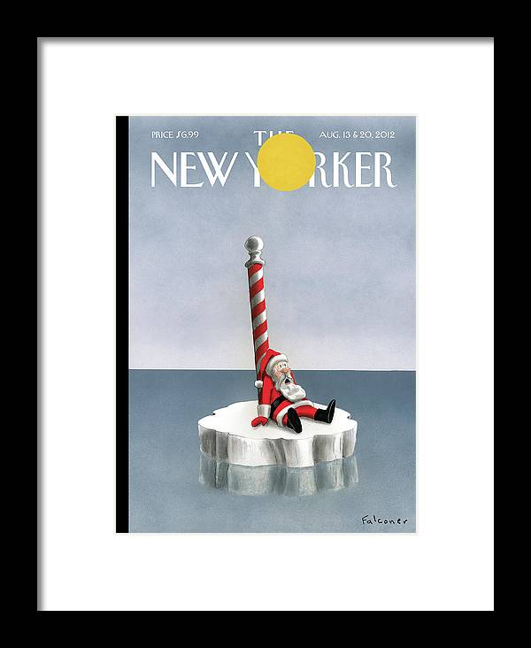 High Noon Framed Print featuring the painting New Yorker August 13th, 2012 by Ian Falconer