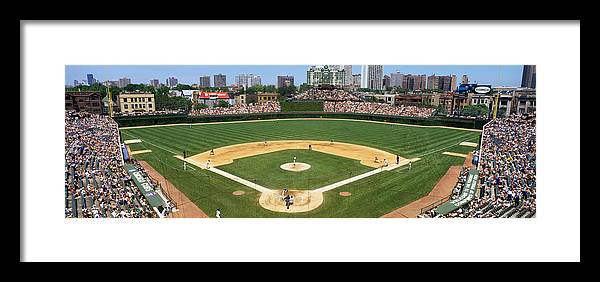 Photography Framed Print featuring the photograph Usa, Illinois, Chicago, Cubs, Baseball by Panoramic Images