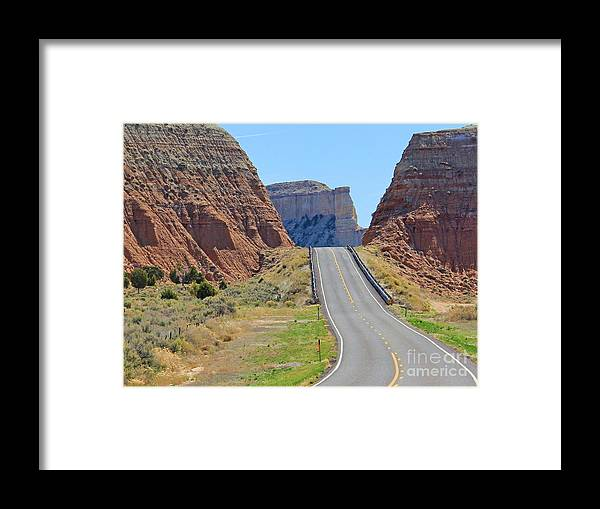 Utah Framed Print featuring the photograph Utah Highway by Jack Schultz