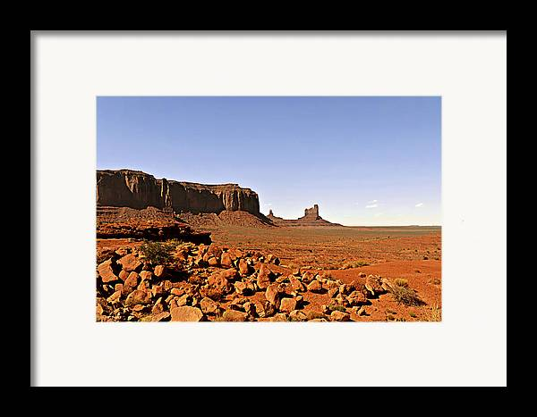 Monument Framed Print featuring the photograph Utah's Iconic Monument Valley by Christine Till