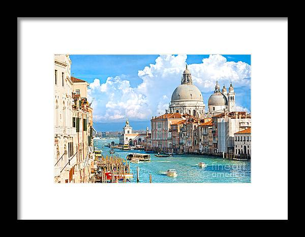 Balcony Framed Print featuring the photograph Venice by Luciano Mortula