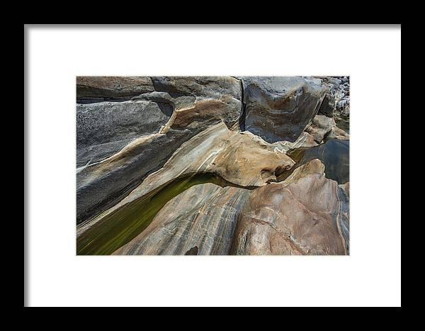 Verzasca Framed Print featuring the photograph Verzasca River - Rocks by Radka Linkova