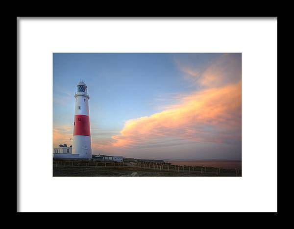 Lighthouse Framed Print featuring the photograph Victorian Lighthouse At Sunset by Matthew Gibson