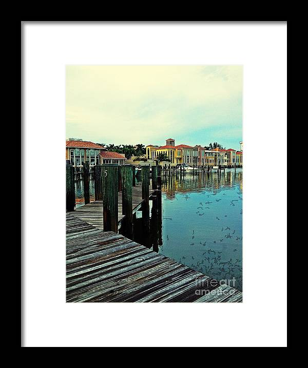 Southwest Florida Framed Print featuring the photograph View From The Boardwalk by K Simmons Luna