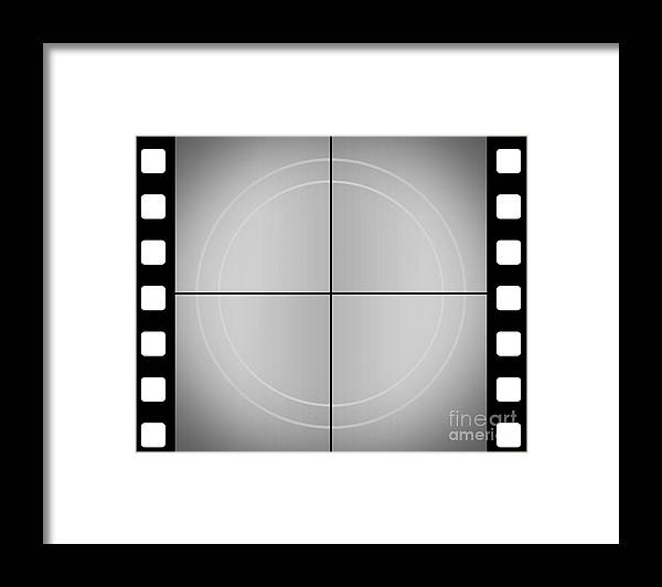 Vintage Movie Frame With Film Strip Background Framed Print by Jorgo ...