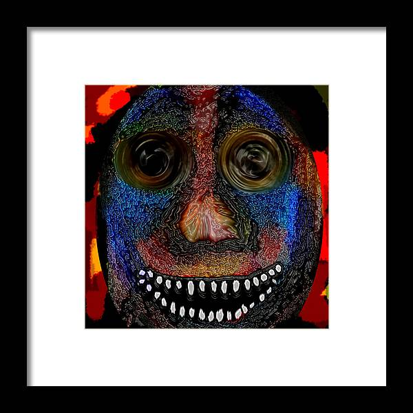 Framed Print featuring the digital art Walter by Coal