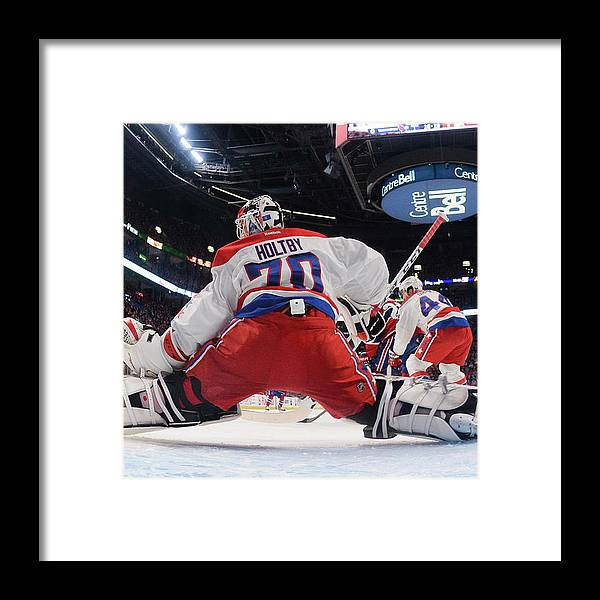National Hockey League Framed Print featuring the photograph Washington Capitals V Montreal Canadiens by Francois Lacasse