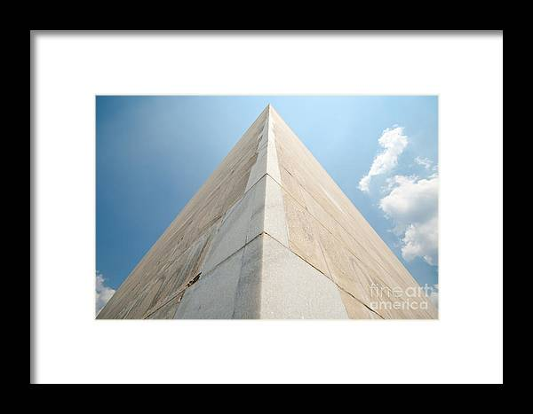 Corner Framed Print featuring the photograph Washington Monument by Jim Pruitt