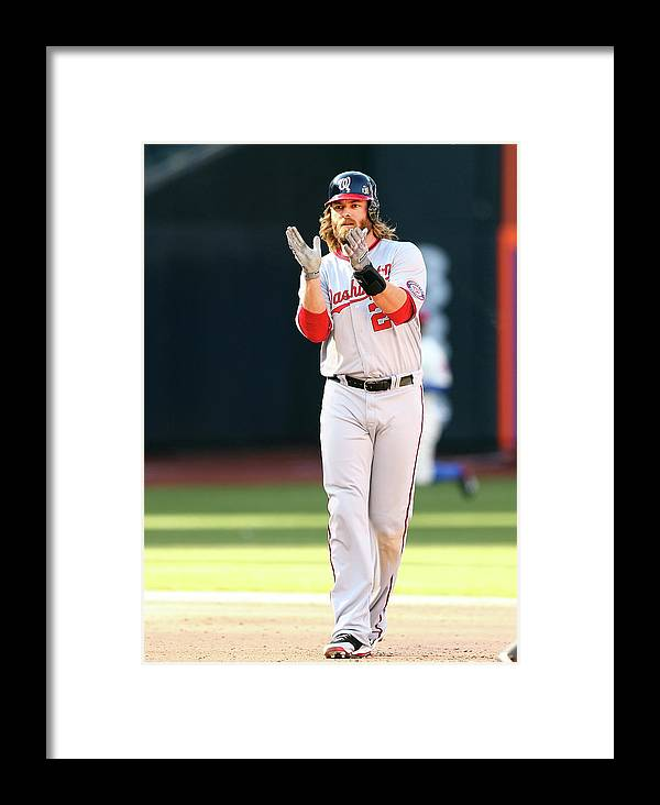 Celebration Framed Print featuring the photograph Washington Nationals V New York Mets 1 by Elsa