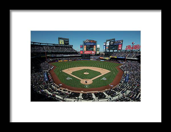 East Framed Print featuring the photograph Washington Nationals V. New York Mets by Rob Tringali